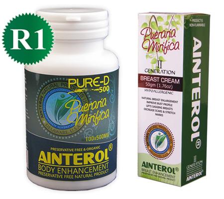 Ainterol Pueraria Mirifica capsules and cream