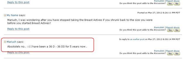 breast actives testimonials amazon