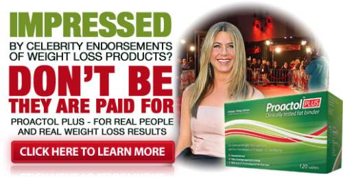 Proactol plus' celebrity endorsement