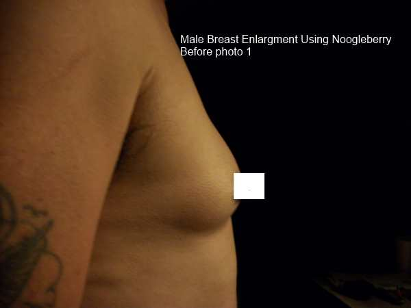 male breast enlargement with Noogleberry pump