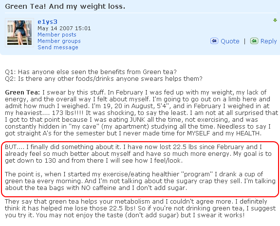 Green Tea Weight Loss Review